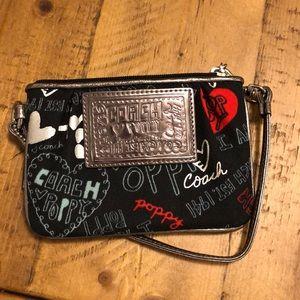 Coach mini zip bag with handle